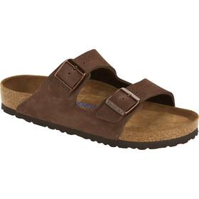 Birkenstock Arizona Sandals Nubuck Leather Soft Footbed Narrow Men, roast